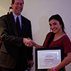 Rachele Pedraza - Winner of an Outstanding Student Employee Award