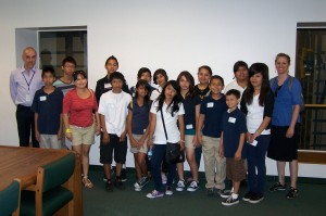Northridge Middle School Students Visiting the Library
