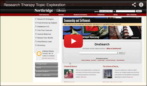 Topic Exploration image for video