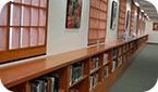 Image of Books on the Second Floor of the Oviatt Library