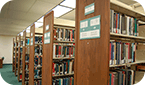 Image of Books on the Third Floor of the Oviatt Library