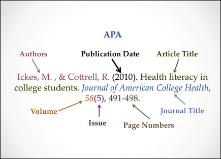 apa format for online article