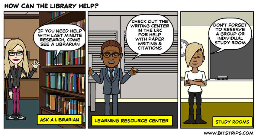 How the Library Can Help Comic