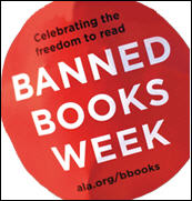 Celebrating the Freedom to Read: ALA banned books week.