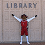 Matty the Matador in Front of the Library