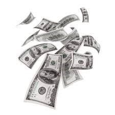 falling $100 bills