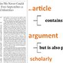 How Scholarly Articles are Published