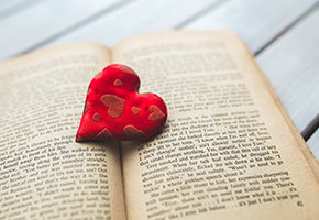 heart on book