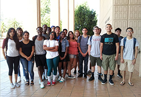 EOP Bridge Students Visit the Library this Summer