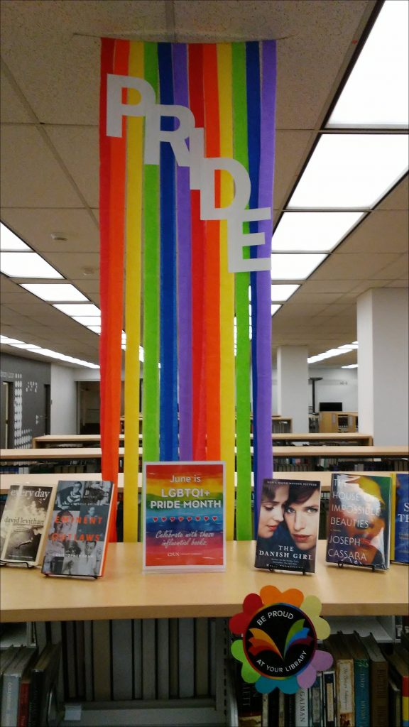 Pride Month Book Display