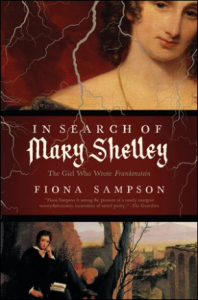 Mary Shelley with a book by a tree