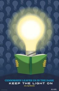 book being read by a lightbulb