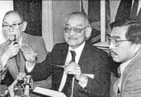 ivil Rights Activist Fred Korematsu (left), attorney Minoru Yasui (middle) and socioligist Gordon Hirabayashi (right) in 1986