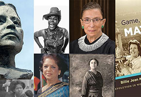 collection of book covers for women's history month