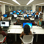 Students Using our Newly Configured Computer Stations