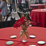 Table setting at the Grand Opening reception