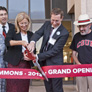 President Harrison and Dean Stover cut the ribbon