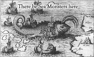 Sea Monsters.  Hidden easter egg