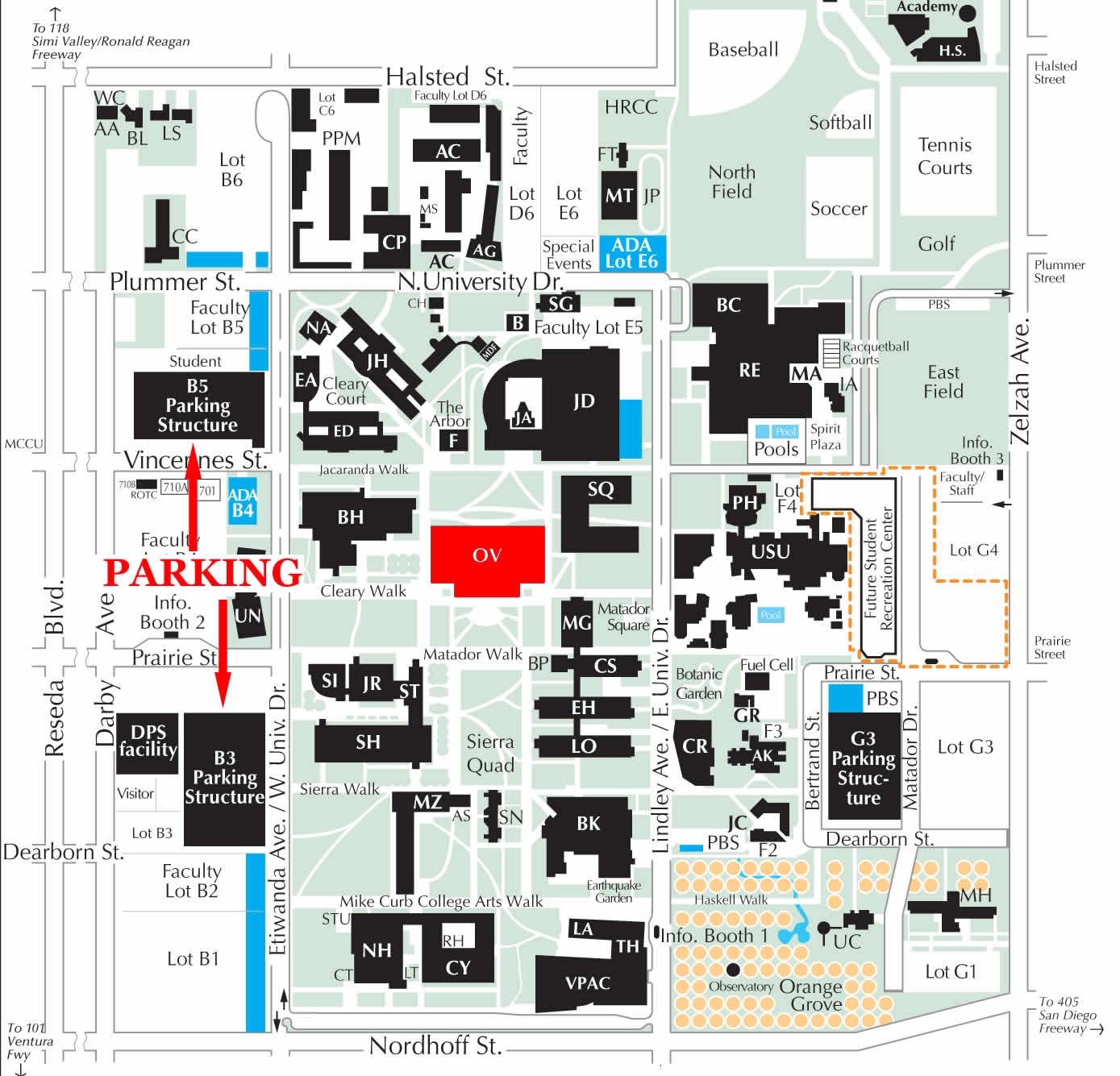 Color printing csun - Campus Google Map