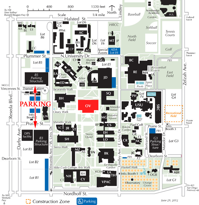 Map of CSUN campus