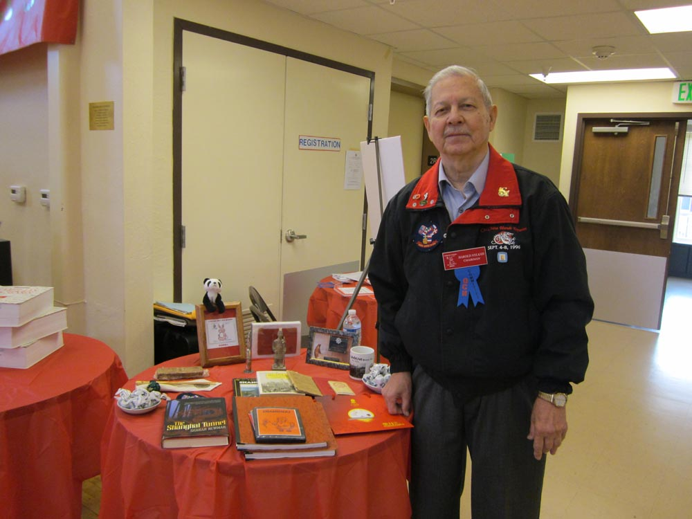 Reunion organizer Harold Nyland with memories