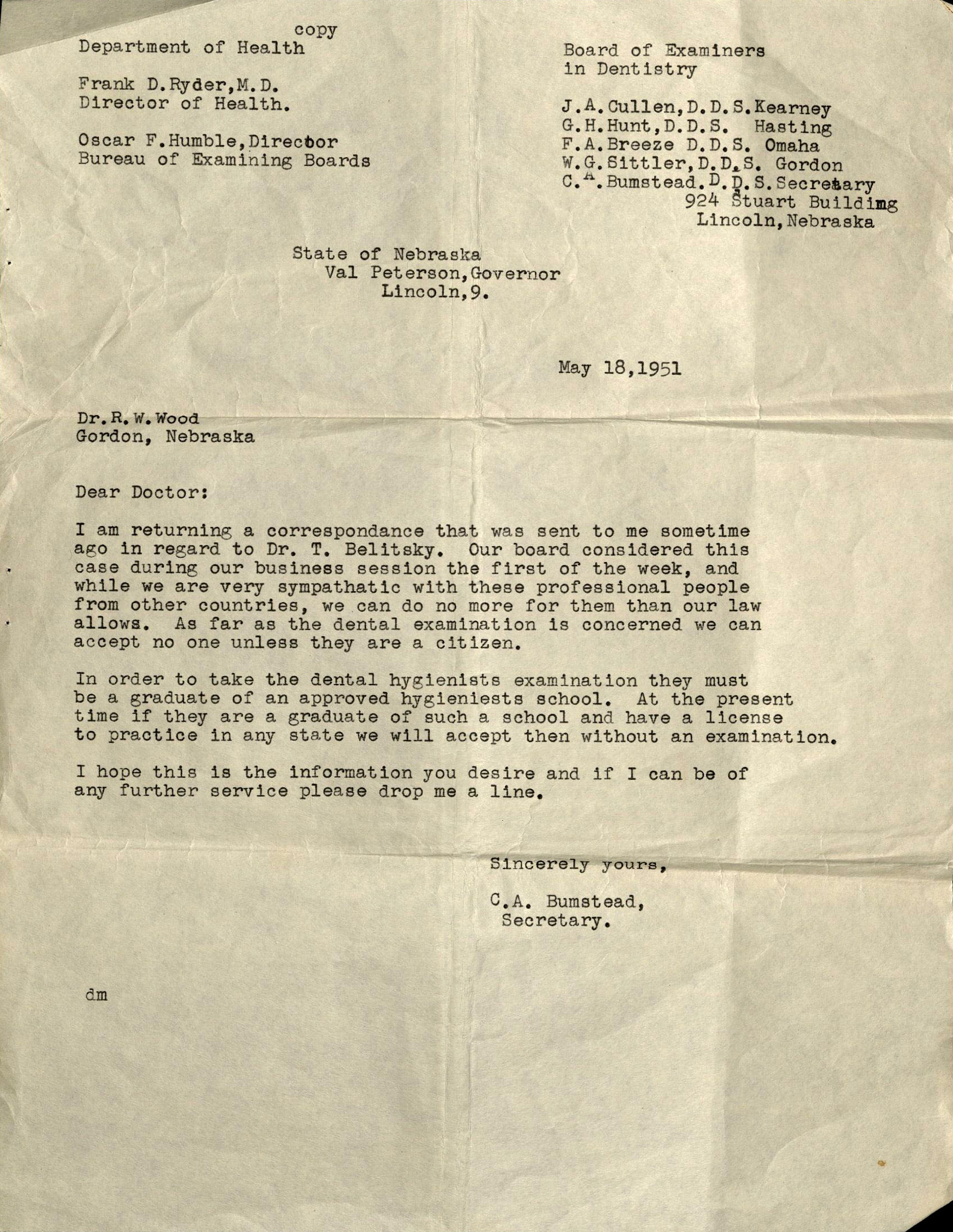 Letter Of Recommendation For A Dentist