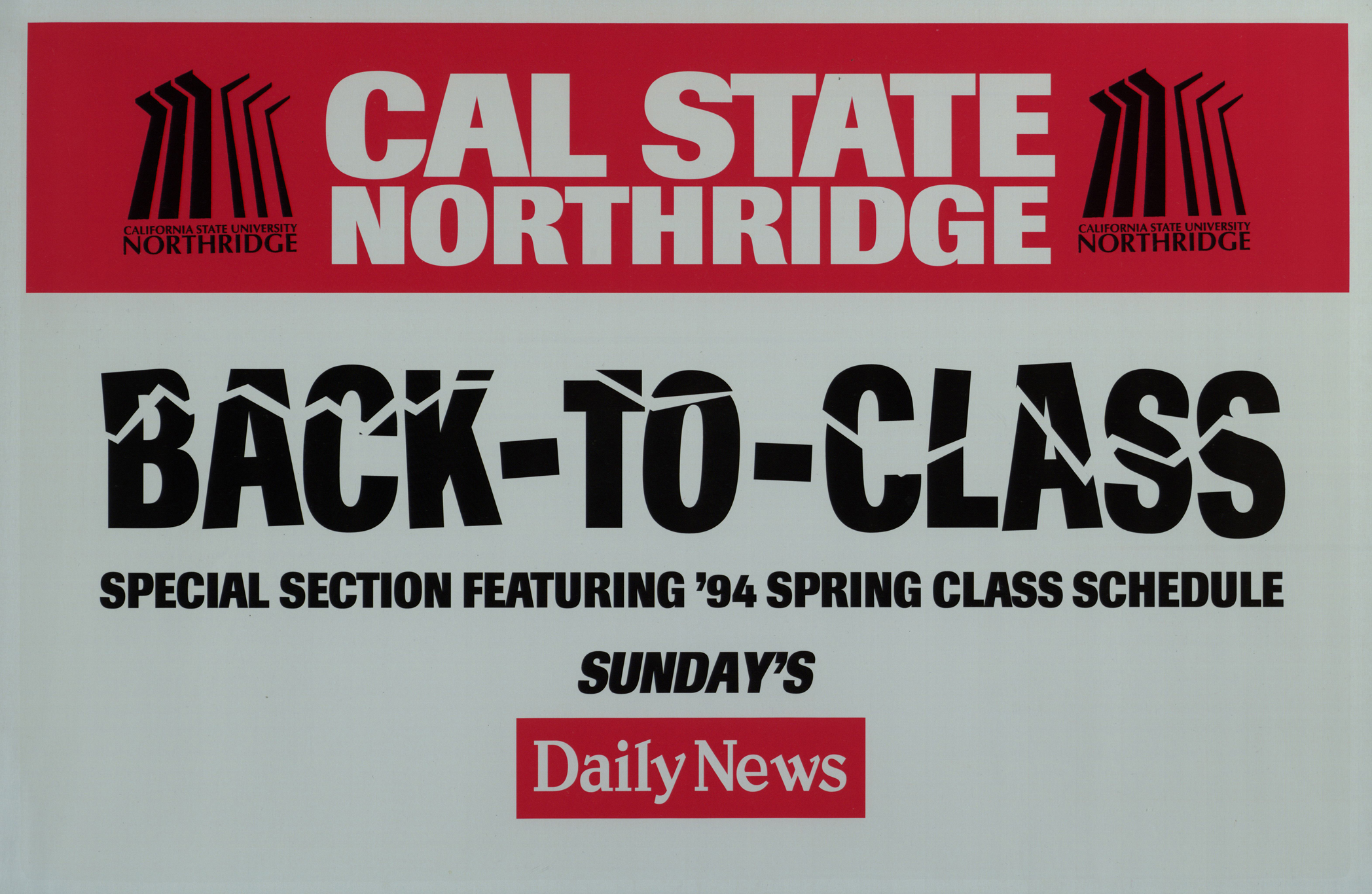 Color printing csun -  Back To Class Poster Advertising An Earthquake Edition Of The Los Angeles