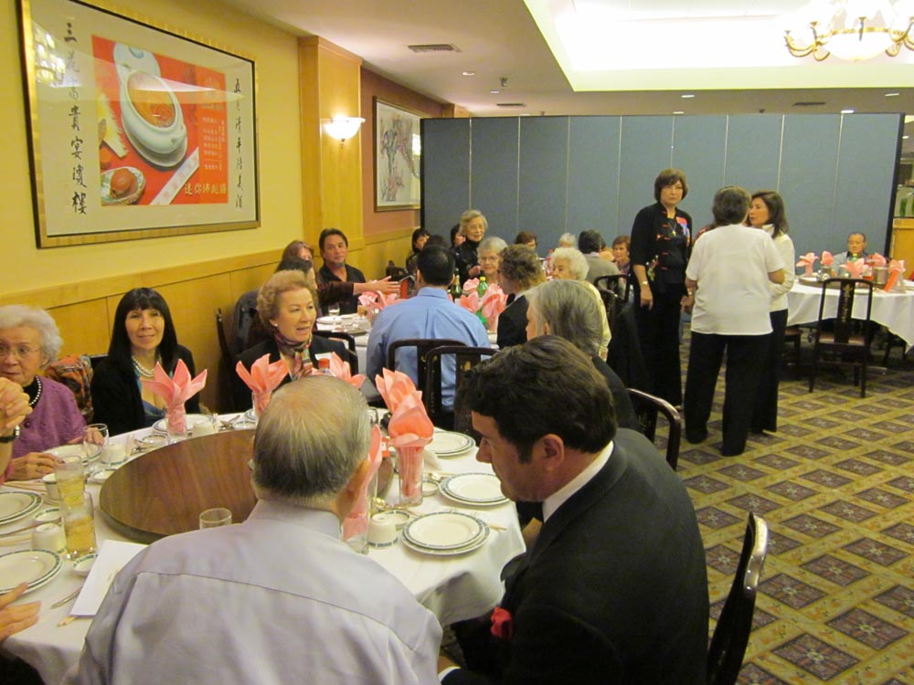Festive banquet at the Mayflower Restaurant