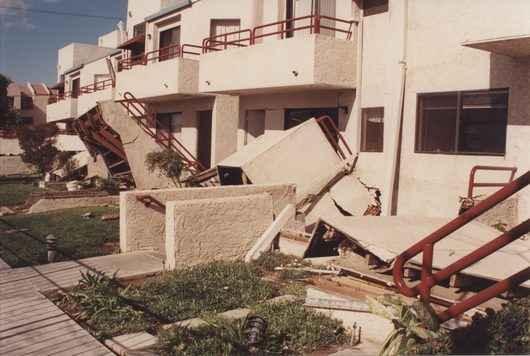 Color printing csun - Dormitory Staircases At Csun Immediately After The Earthquake 1994