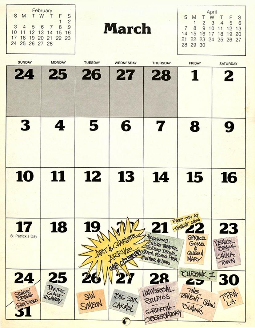 1985 Calendar.Quirky And Curious Calendars Oviatt Library
