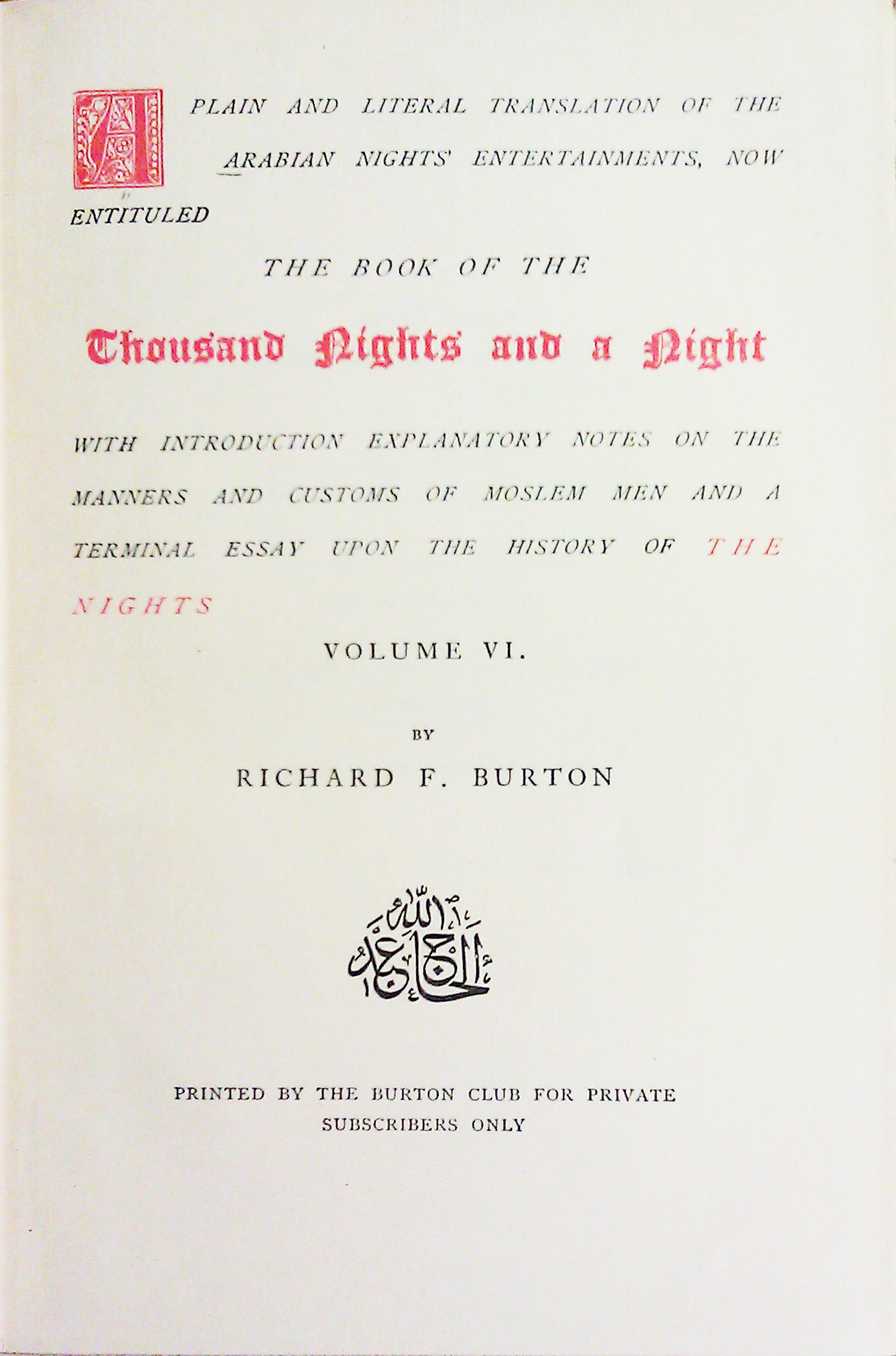 an analysis of sex in arabian nights translated by richard burton In richard burton's translation of arabian nights, several stories revolve around three ideas sex, lies, and violence it seems that one idea hinges on another and.