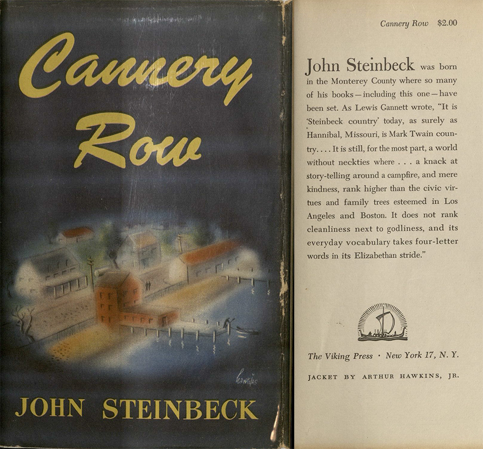 an analysis of the novel cannery row by john steinbeck Home cannery row /  summary in cannery row , john steinbeck returns to the setting of steinbeck's best and most ambitious novel after the grapes.