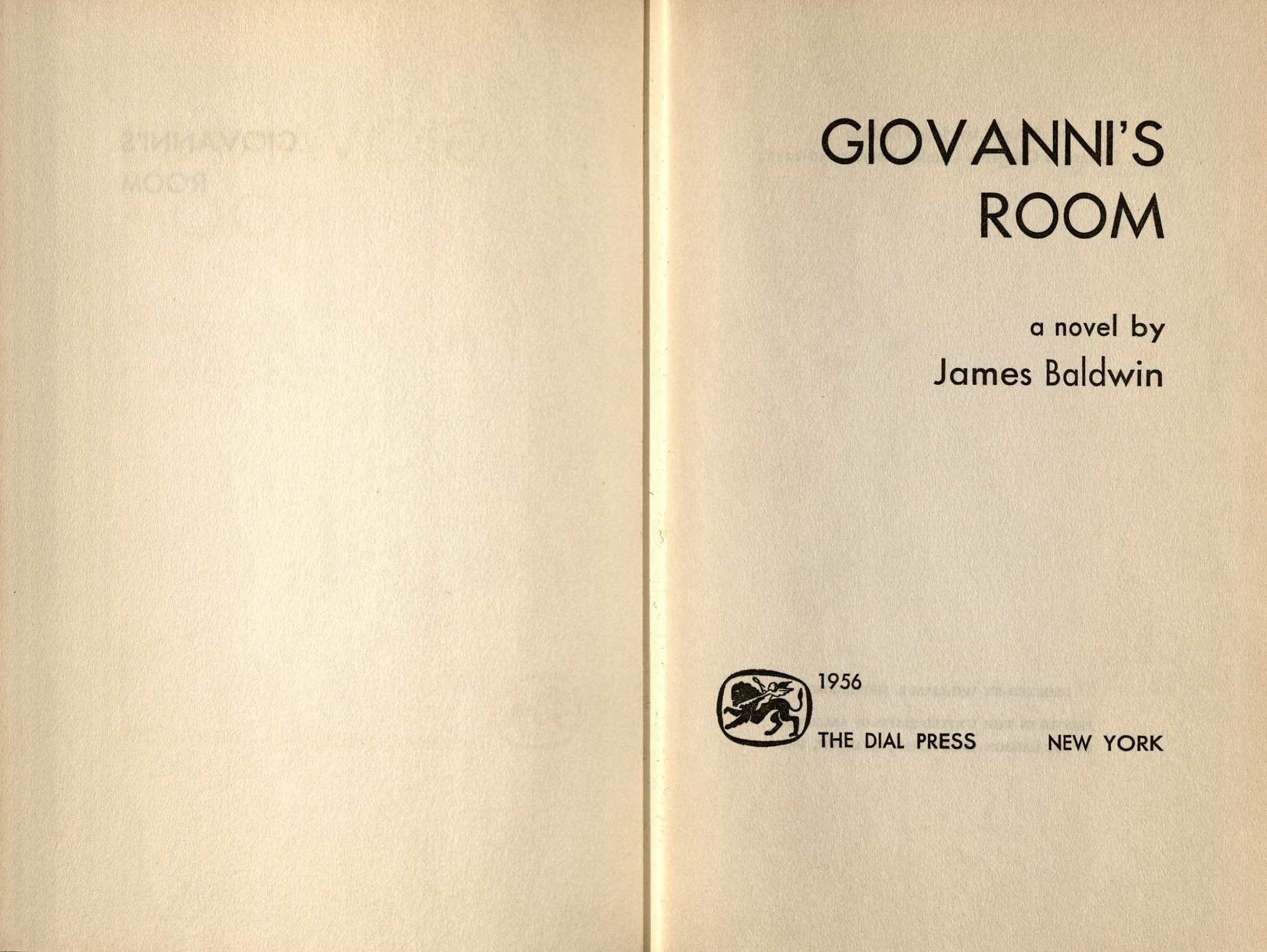 the works of james baldwin oviatt library title page of giovanni s room a novel 1956