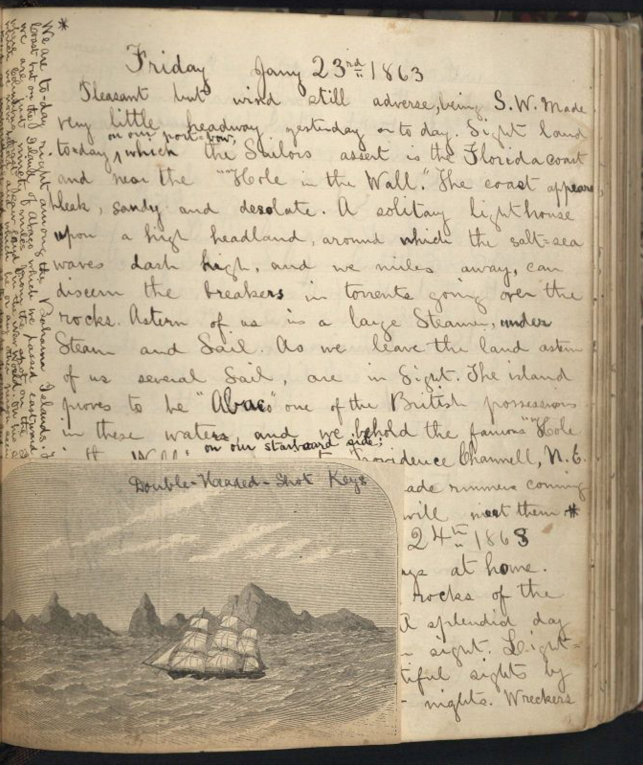How to scrapbook journal - Journal Entry January 23 1863