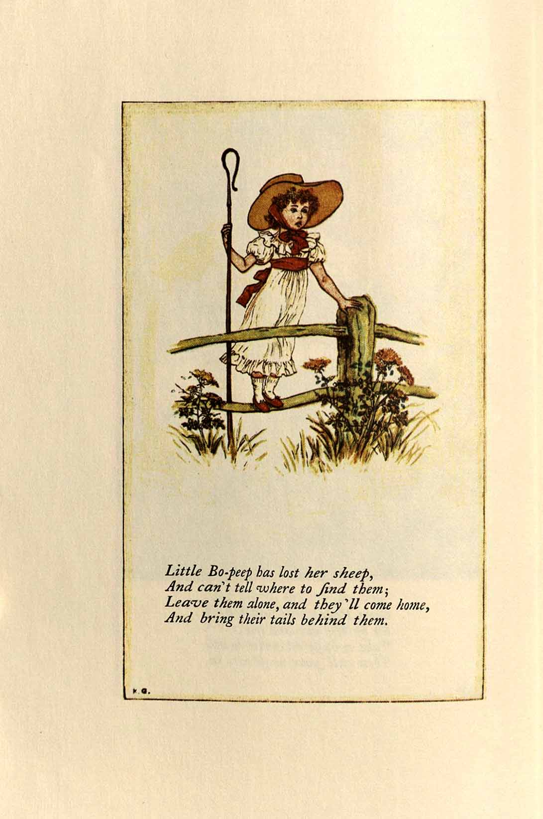 Little Bo P From Mother Goose Or The Old Nursery Rhymes
