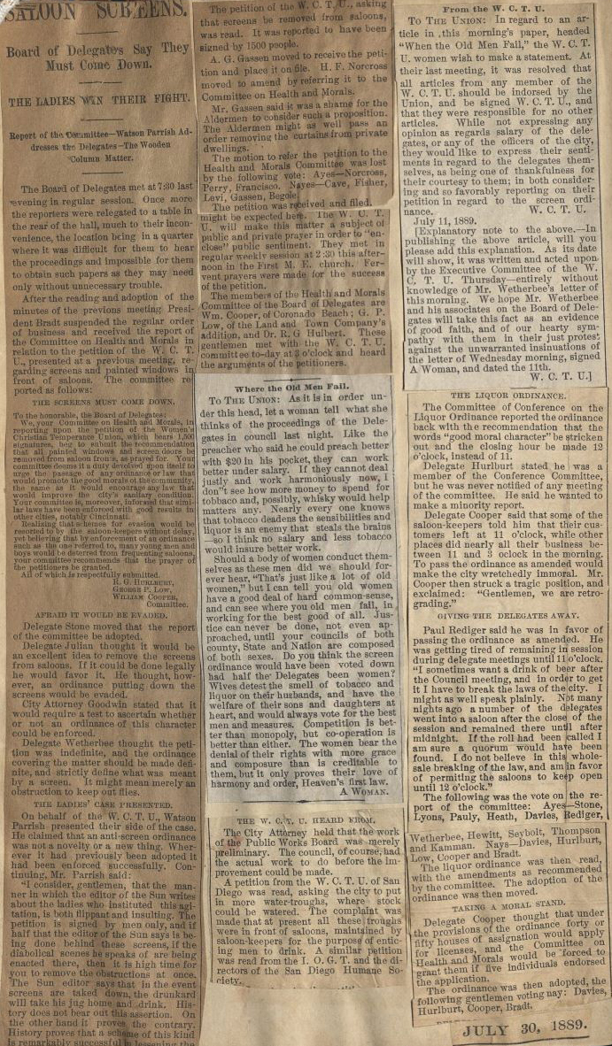 How to scrapbook newspaper - A Page Taken From Temperance Scrapbook
