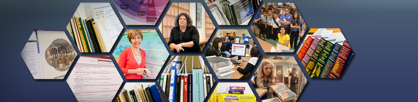 Featured Article banner - Librarians, and Tour Groups, Books Collage