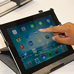 Picture of a person using an iPad