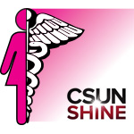 Women's Health Logo and CSUN Shine Logo