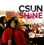 CSUN Students at Award Ceremony