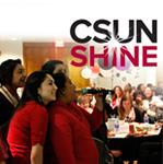 CSUN Students at Award Ceremony