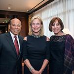 Milt Valera, CSUN President Dr. Dianne F. Harrison and Debbie Valera