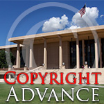 Copyright Advance.  Image of the Oviatt Library.