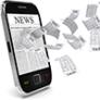 phone receiving news