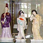 Figurines of Gilbert and Sullivan's The Mikado