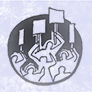 Drawing of protestors holding signs