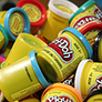 Pile of Play-Doh Jars