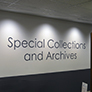 Oviatt Library Special Collections & Archives sign