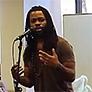 A member of Vocal ARTillery performing in the Oviatt