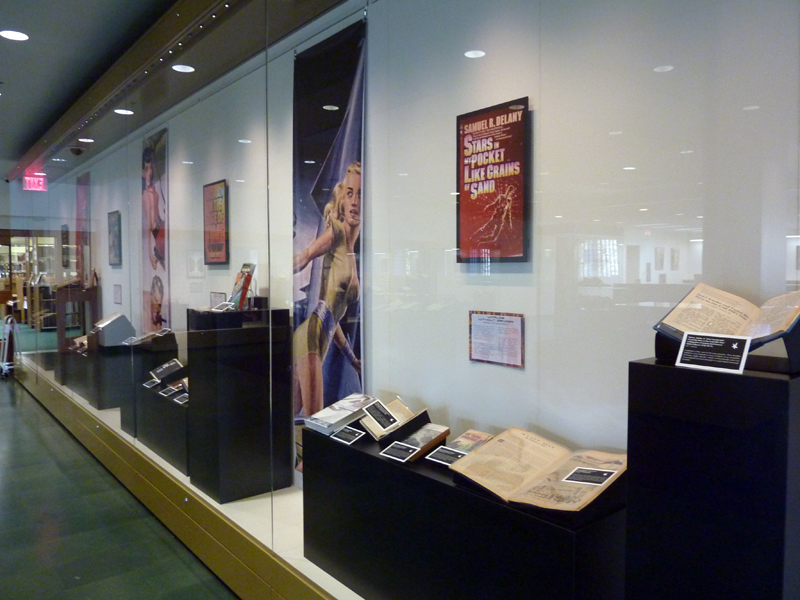 Case along the exhibit gallery's south wall.